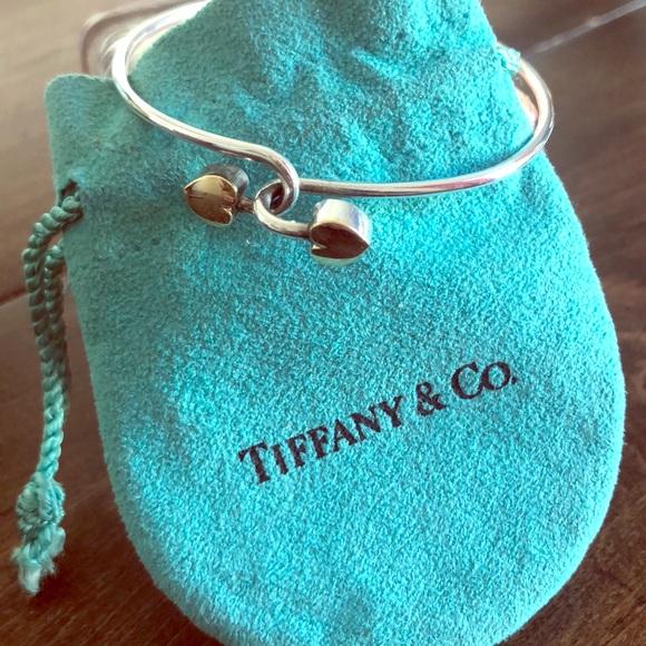 Tiffany & Co. Jewelry - Tiffany & Co. Vintage Double Heart Bangle